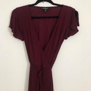 Lulus Wrap Maxi Dress